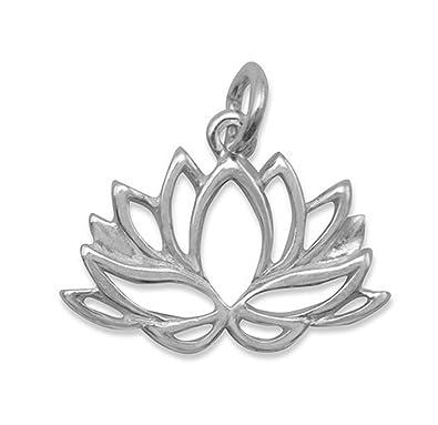 Amazoncom Corinna Maria 925 Sterling Silver Lotus Flower Charm