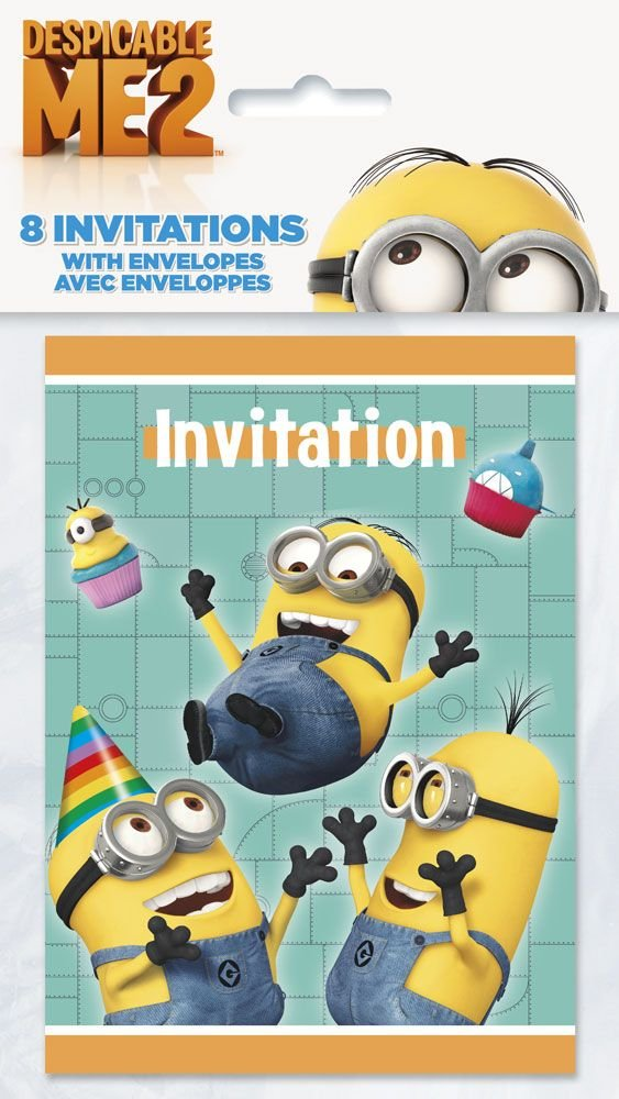 Amazon despicable me invitations 8ct toys games filmwisefo Gallery