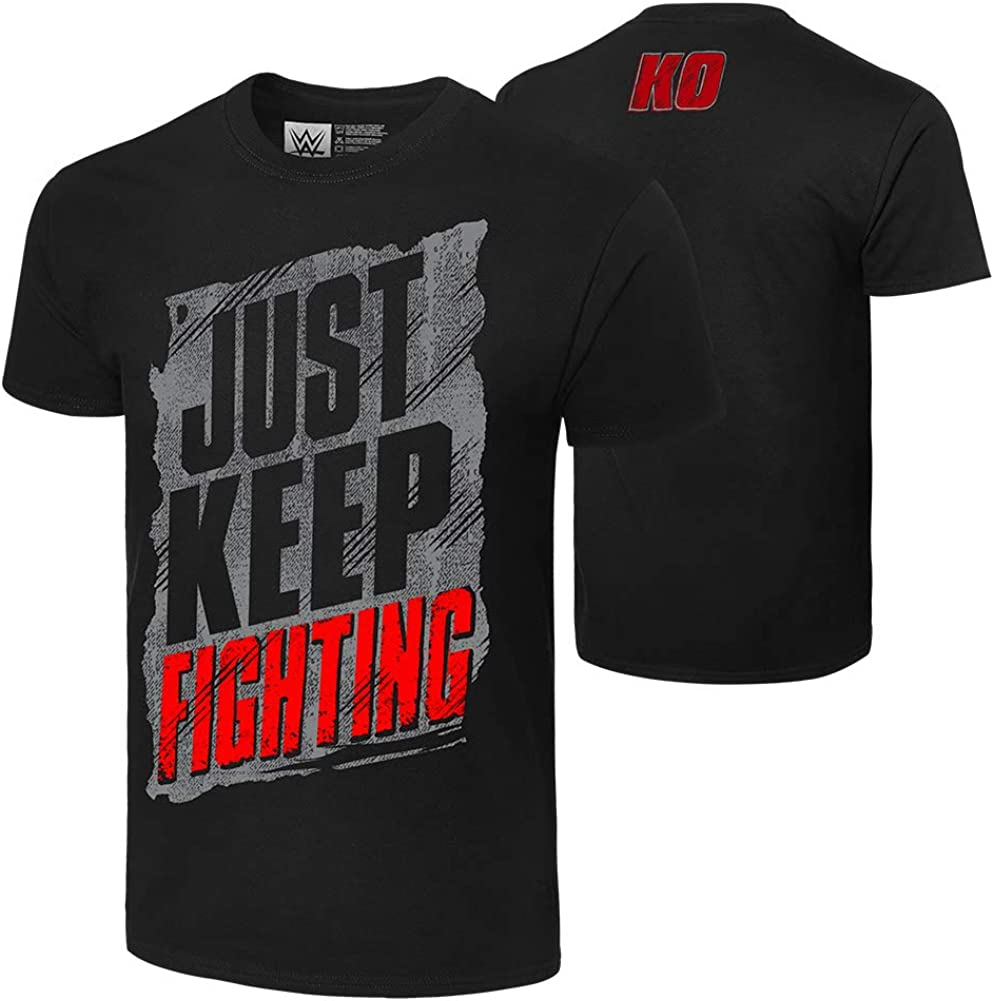 WWE Kevin Owens Just Keep Fighting Authentic T-Shirt