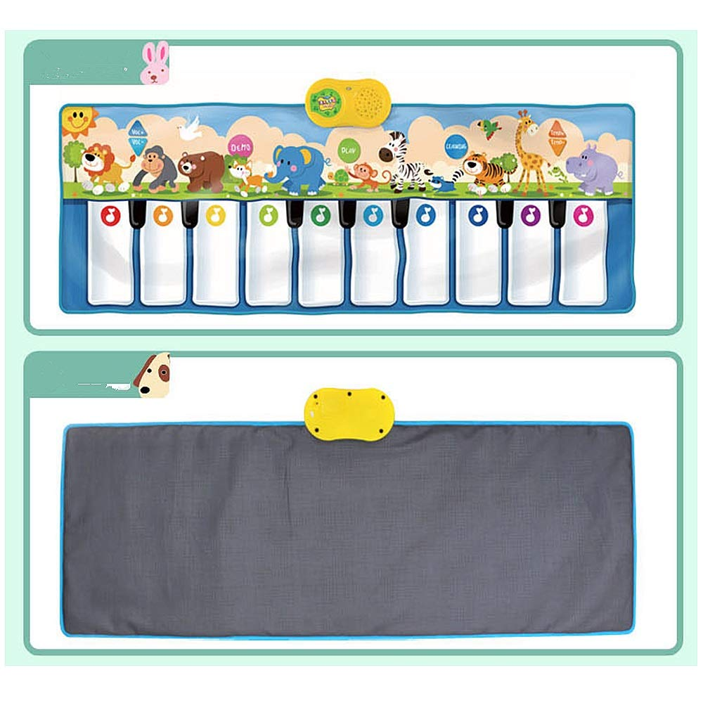 Play Keyboard Mat 53 Inches 10 Keys Giant Jumbo Sized Musical Keyboard Playmat With Record Playback Demo Play Learning Adjustable Vol Foldable Floor Keyboard Piano Dancing Activity Mat Step And Play I by GAOCAN-gq (Image #4)