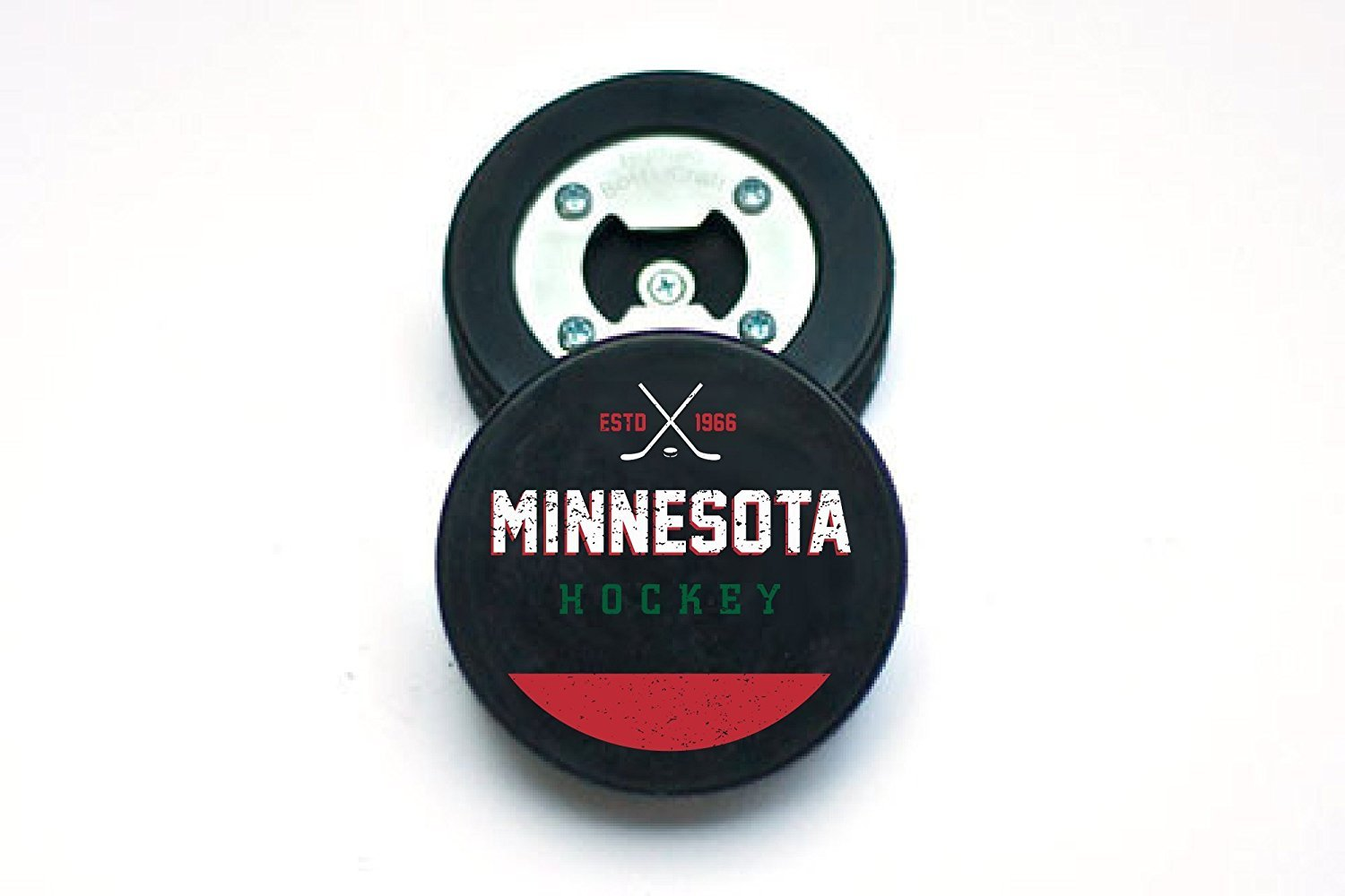 Minnesota The PuckOpener Hockey Puck Bottle Opener