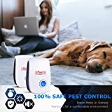 2019 Upgraded Ultrasonic Pest Repeller Plug in Pest Reject, Electric Pest Control Repellent for Bed Bugs, Cockroach, Rat, Spider, Flea, Ant, and etc. 6 Pack