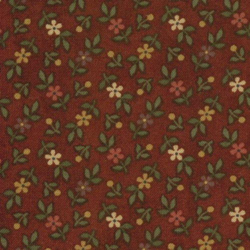 Kansas Troubles Favorites, Tiny Prairie Flowers, Dark Burgundy, 9054-12, Moda, by The Yard