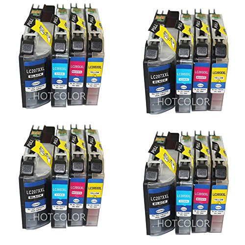 HOTCOLOR Set of 16 Pack for LC207XXL LC205XXL Compatible ...