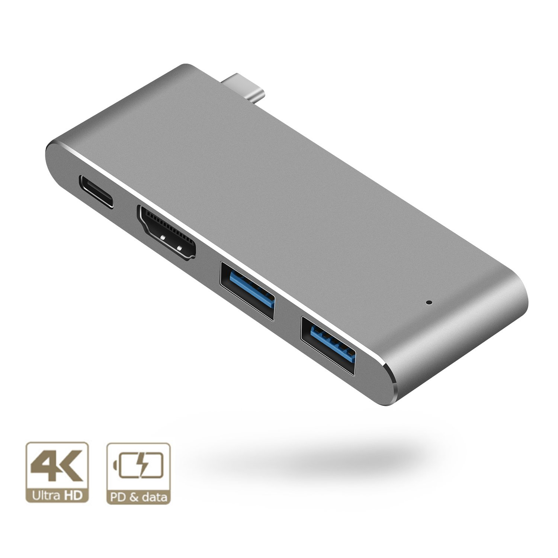 USB-C Hub Aluminium USB Typ C Hub Adapter 4k HDMI Video: Amazon.de ...