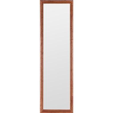 Gallery Solutions 12x48 Full Length Door Mirror, Natural Wood