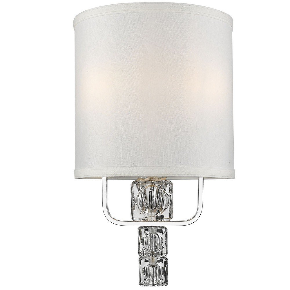 Crystorama 6832-CH Contemporary Modern Two Light Wall Sconce from Addison collection in Chrome, Pol. Nckl.finish,