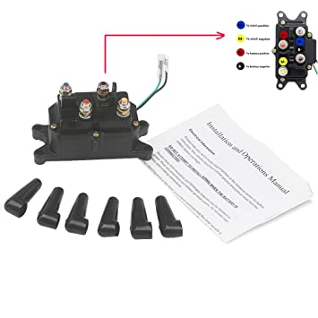 KIPA Winch Solenoid Relay 12V 250A for ATV UTV SUV Jeep Trailer Hydraulic on dc motor forward reverse wiring diagram, 4 wheeler winch wiring diagram, atv winch wiring diagram, fan motor wiring diagram, winch motor wiring diagram, electric winch wiring diagram, 3 wire wiring diagram, venom winch wiring diagram, desert dynamics winch wiring diagram, overhead crane electrical wiring diagram, solenoid switch diagram, badland winch solenoid diagram, switch wiring diagram, ramsey rep 8000 solenoid diagram, speedometer wiring diagram, 12 volt winch wiring diagram, trailer light plug wiring diagram, badland wireless remote wiring diagram, trailer hitch wiring diagram, champion winch wiring diagram,