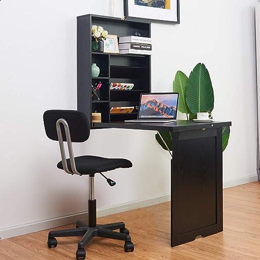 TANGKULA Mesa de pared plegable, multifunción, escritorio para ...