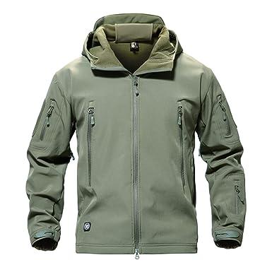 Amazon.com  Shark Skin Military Jacket Men Softshell Waterproof ... a9943ea370
