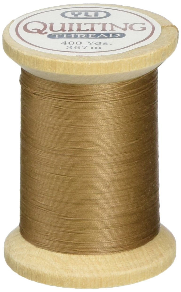 YLI 21104-011 3-Ply T-40 Cotton Hand Quilting Thread, 400 yd, Grey