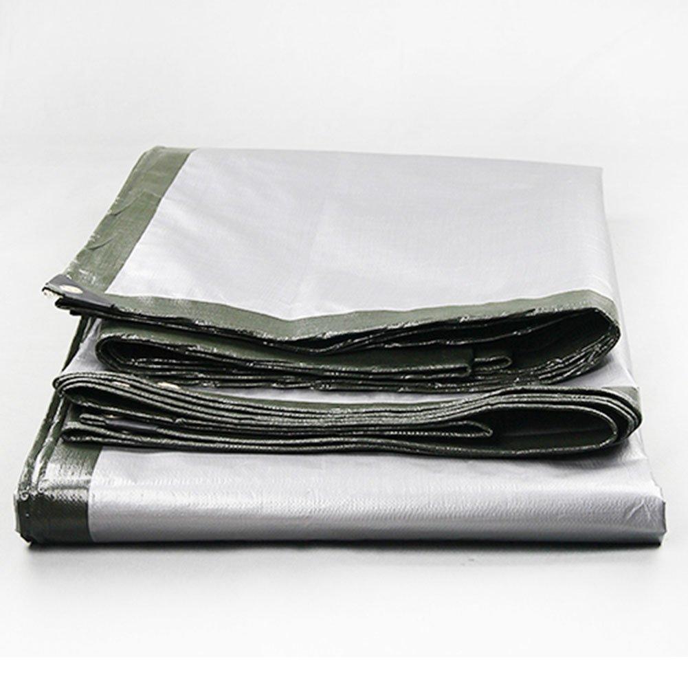 CHAOXIANG 折りたたみ可能 厚い 両面 防水 耐寒性 アンチサン シェード 耐摩耗性 耐食性 防塵の PE グレー、 180g/m 2、 厚さ 0.35mm、 20サイズ (色 : グレー, サイズ さいず : 6×7m) B07DC56MD9 6×7m|グレー グレー 6×7m