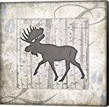 Decorative Lodge Moose 2 by LightBoxJournal Canvas Art Wall Picture, Museum Wrapped with Black Sides, 20 x 20 inches