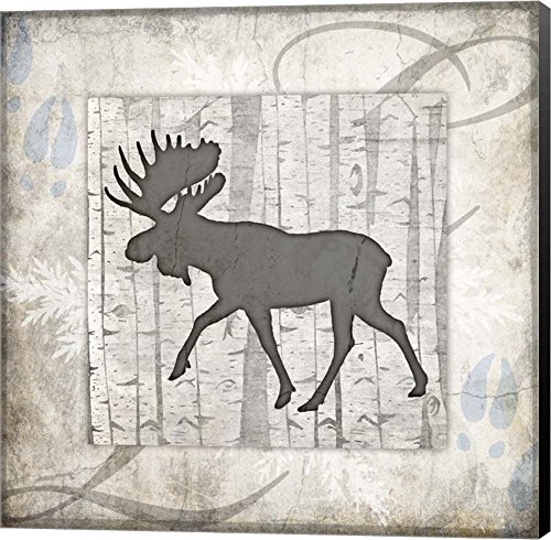 Decorative Lodge Moose 2 by LightBoxJournal Canvas Art Wall Picture, Museum Wrapped with Black Sides, 20 x 20 inches by Great Art Now