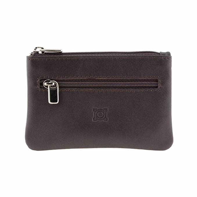 Monedero 3 cremalleras piel Talla: U Color: MARRON: Amazon ...
