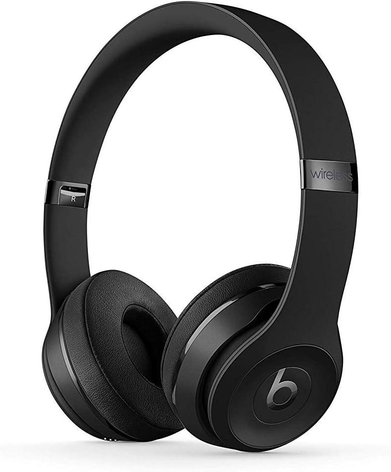 BeatsSolo3Wireless - Auriculares supraaurales - Chip Apple W1, Bluetooth de Clase1, 40horas de sonido ininterrumpido - Negro Mate