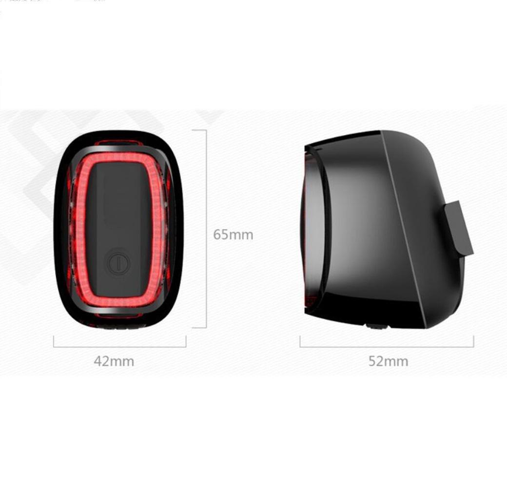 CHEZAI Bike Heckleuchten Mountain Bike USB Aufladung Smart Lights LED Warning Flash