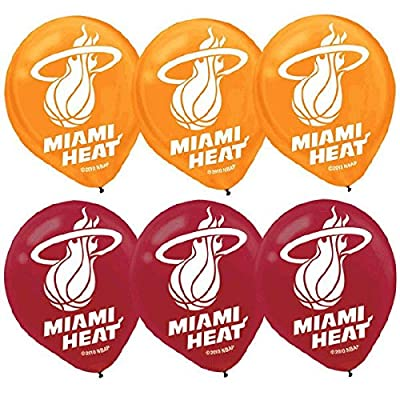 """Miami Heat NBA Collection"" Printed Latex Balloons, Party Decoration: Toys & Games"