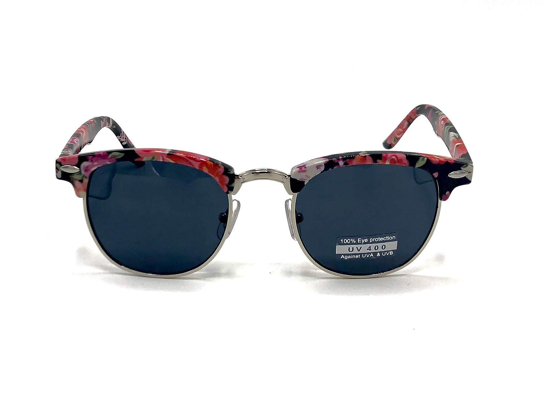 781a7ee9ed9ac Amazon.com  Goson Vintage Semi Rimless Sunglasses for Men and Women - Retro  Sunglasses Frame