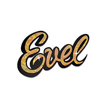 Evel knievel holographic bumper sticker