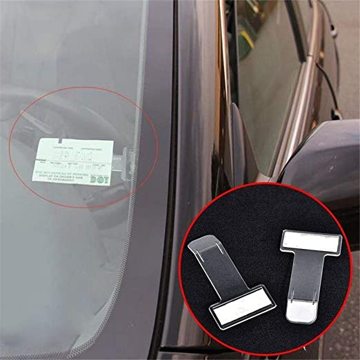 Home Holic Car Parking Permit Holder Tax Disc Holder Windscreen Parking Ticket Holder Car Windscreen Parking Ticket Permit Pass Holder Clip 2 Car Accessories