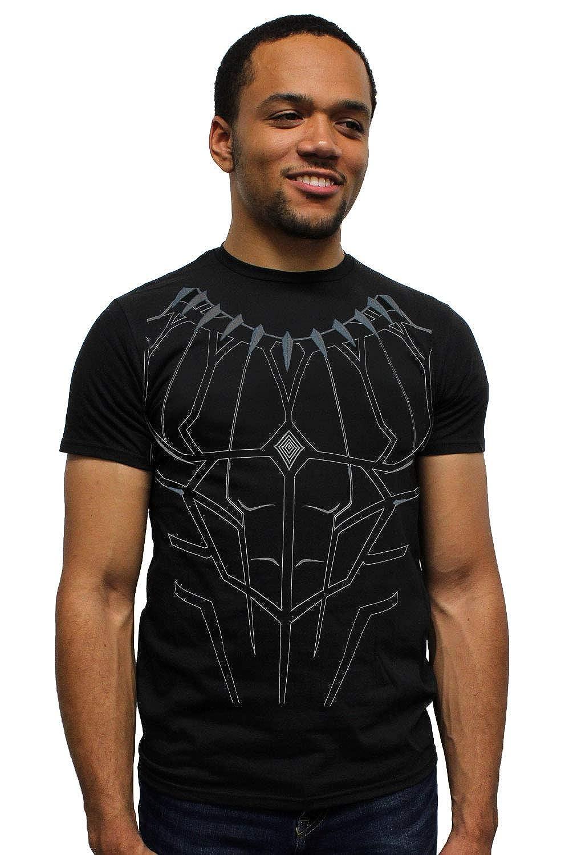 Marvel Men's Black Panther Costume Chemise pour Adulte sous Licence simpliste