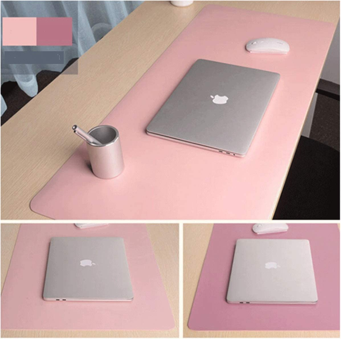 Pink//Pink Office Game Table Mat Large Desktop Waterproof Mouse Pad Mouse Pad Oversized Desk Desk Pad 9045CM Purple, Double-Sided//Two-Color Mouse Pad Sky Blue