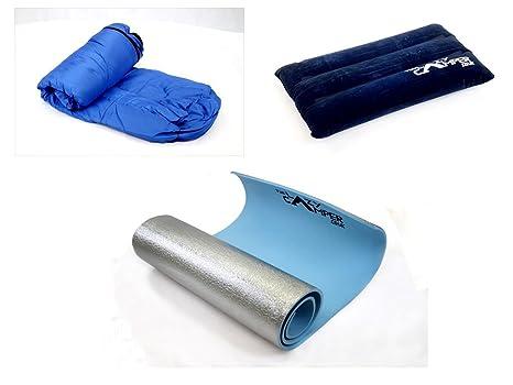 Lazy Camper - Saco de dormir, esterilla y almohada