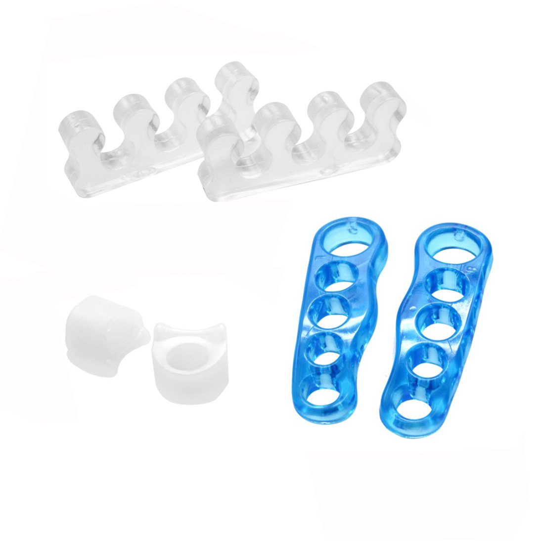 Fanme F-009 Gel Toe Separators 3 pairs Kit Toe Spacers Toe Stretchers Straightener for Yogis Dancers and Athletes Pain Relief for Hammer Toe Bunion Foot Pain Plantar Fasciitis