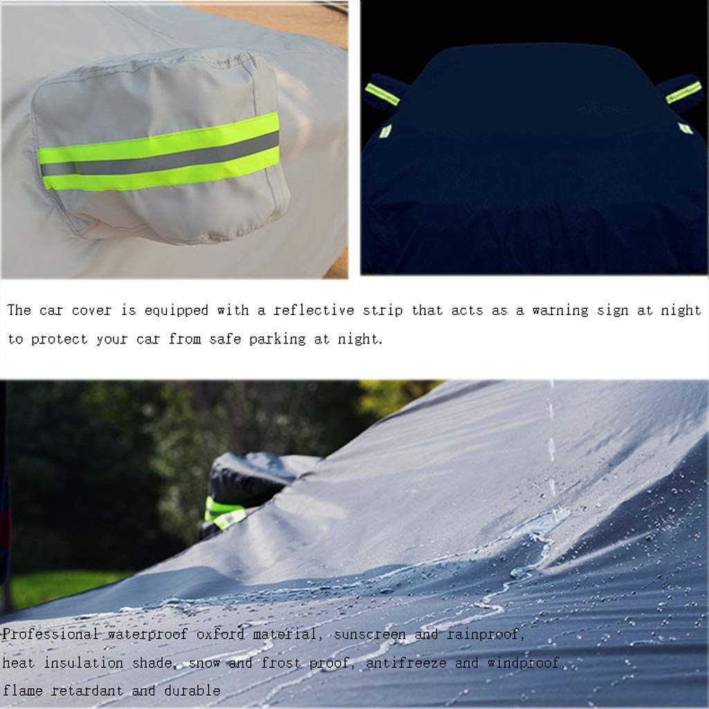 Color : Silver DUWEN Compatible With Ford Focus ST Full Car Cover Waterproof Oxford Cloth Outdoor Windshield Dust Cover Sunscreen Scratch Resistant UV All Weather Car Tarpaulin Sedan Car Cover