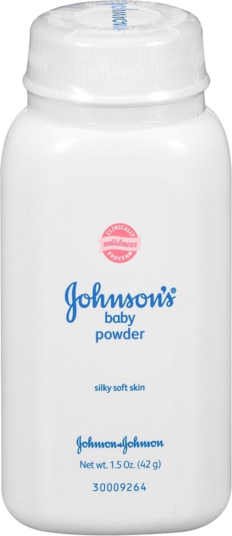 JOHNSON'S Baby Powder, Travel Size 1.50 oz (Pack of 2) JOHNSON' S Baby Powder