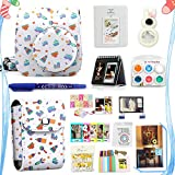 LuckyStar 20 in 1 Accessories Bundles for Fujifilm Instax Mini 8 8+ 9 Instant Camera (Mini 8/8+/9 Case, Photo Pouch, Color Filters, Selfie Lens, Acrylic Frames, Albums, Emoji clips + More)