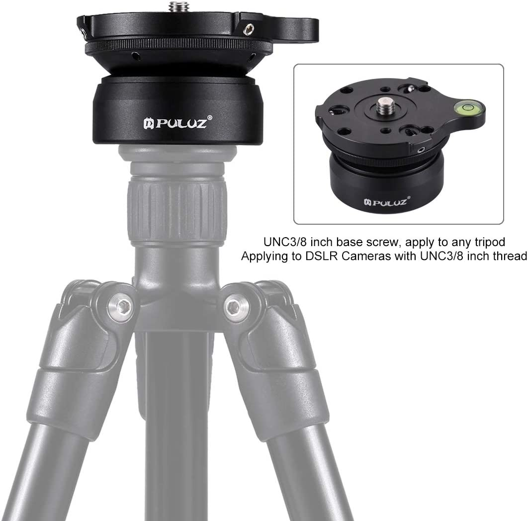 Tripods Monopods Xllcrh 3//8 inch Thread Dome Professional Tripod Leveling Head Base with Bubble Level