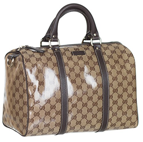a3cf552b2ba Gucci Crystal Coated GG Guccissima Boston Leather Satchel Hobo Bag ...