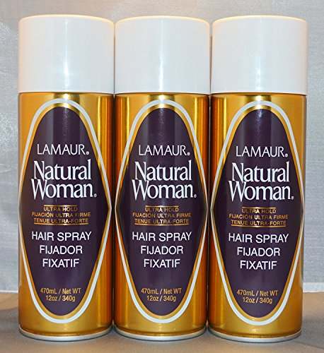 Lamaur Natural Woman Ultra Hold Professional Hair Spray 80 Voc 12 oz 3 pack