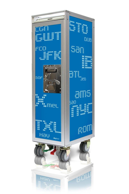 Skyboxx 3CL blue neu Flugzeugtrolley, inklusiv 7 Kunststoffschubladen