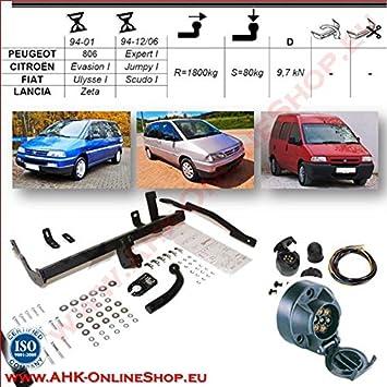 Peugeot Expert II Anhängerkupplung starr+ES 13p ABE