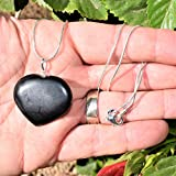 CHARGED Natural Himalayan Black Tourmaline Heart