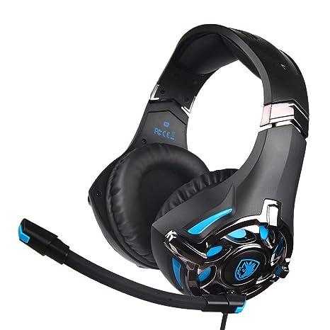 Sencillo Vida Auriculares Gaming Cascos PS4 con Microfono Compatible con PS4, Xbox One, Nintendo