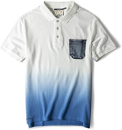 AndyJerzy-CTS Camiseta Casual de los Hombres Camisa Polo de Manga Corta de la Solapa Masculina
