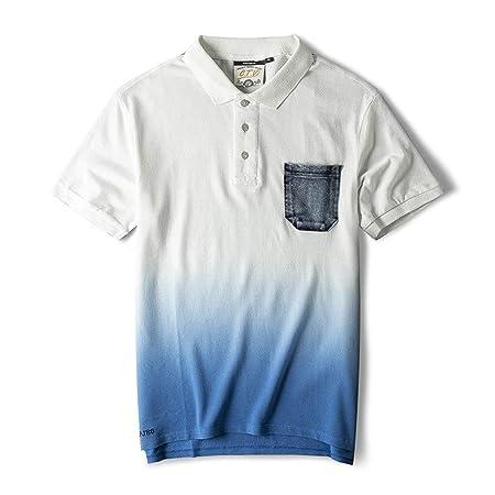 Camiseta para Hombre Camisa Polo de Manga Corta de la Solapa ...