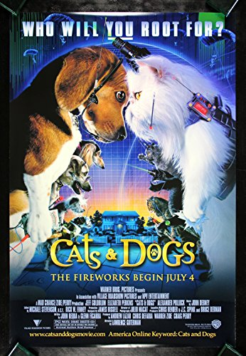 CATS AND DOGS CineMasterpieces ORIGINAL MOVIE POSTER 2001 NM-M ANIMAL PET LOVER from CineMasterpieces