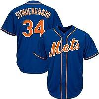Syndergaard Baseball Shirt New York Mets # 34, Camiseta de béisbol con Estampado para Hombre, Camiseta de Manga Corta…