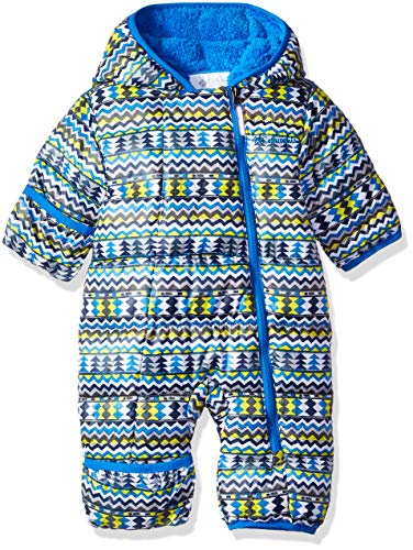 (Columbia Unisex Baby Infant Frosty Freeze Bunting, Cool Grey Zigzag Print, 0/3)