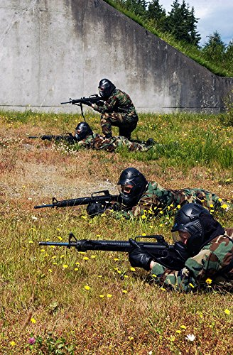 Home Comforts LAMINATED POSTER Sailors assigned to Marine Corps Security Forces Company shoot M-16 rifles on board Naval Base Kits (M16 Base)