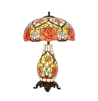 YDYG Lámpara De Mesa De Estilo Tiffany Retro Estadounidense ...