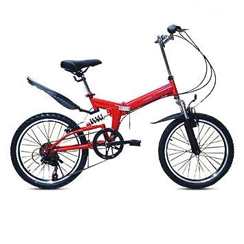 HUALQ Bicicleta Plegable para Niños de Las Señoras Velocidad del Coche Bicicleta de Montaña Bicicleta