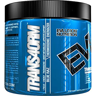 Evlution Nutrition Trans4orm Thermogenic Energizing Fat Burner Supplement, Increase Weight Loss, Energy and Intense Focus