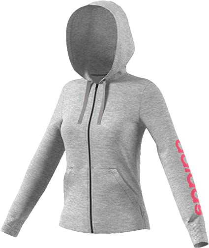 adidas Essentials Linear Veste à Capuche Femme, Mgreyh