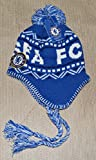 Chelsea Fc Beanie Peruvian Soccer New ! 2014-2015 Official Skull Cap Hat Winter Authentic (BLUE-WHITE)